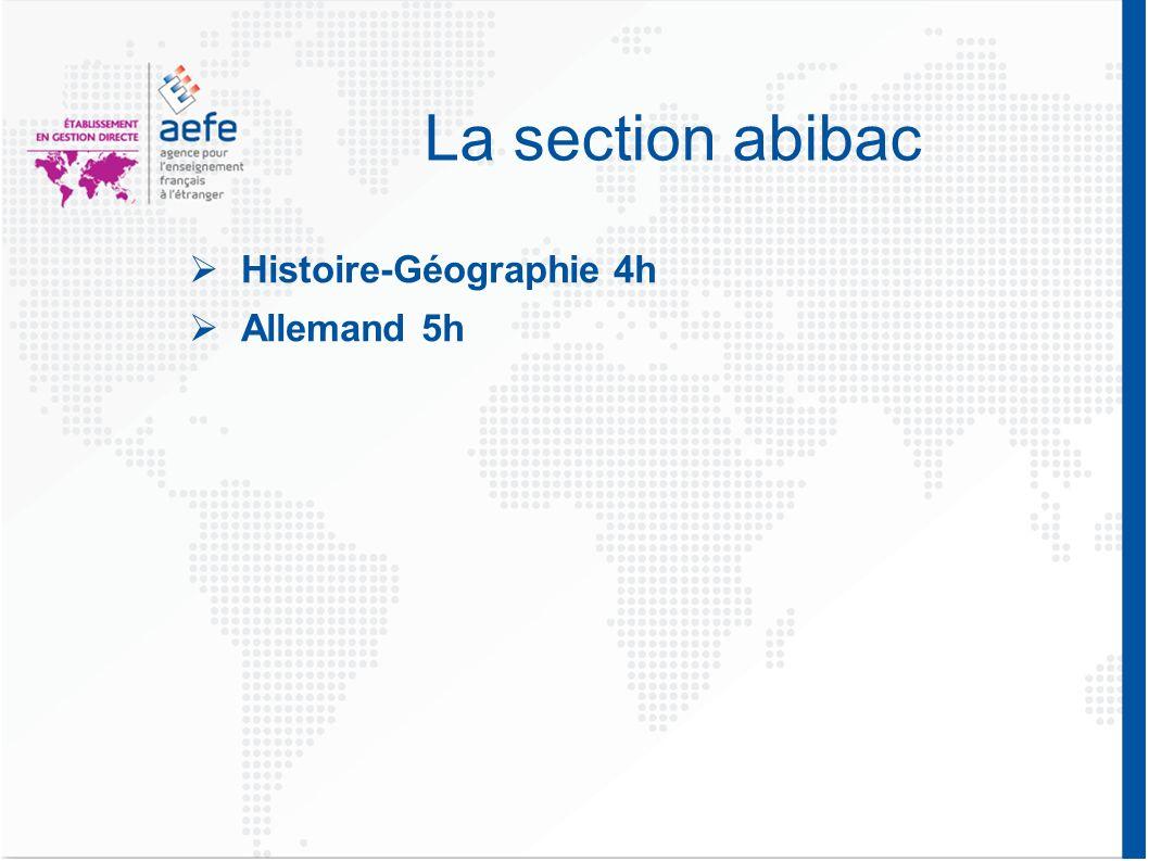 La section abibac Histoire-Géographie 4h Allemand 5h