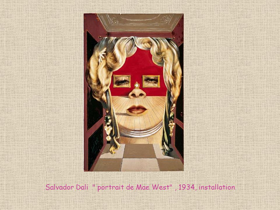 Salvador Dali portrait de Mae West , 1934, installation