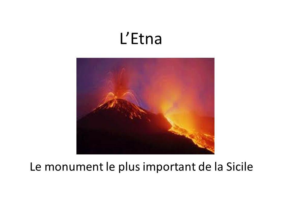 Appelé aussi Mongibello ( de lunion du mot italien « monte » et arabe « gebel » qui signifie tous les deux montagne, lEtna est le volcan le plus haut dEurope.