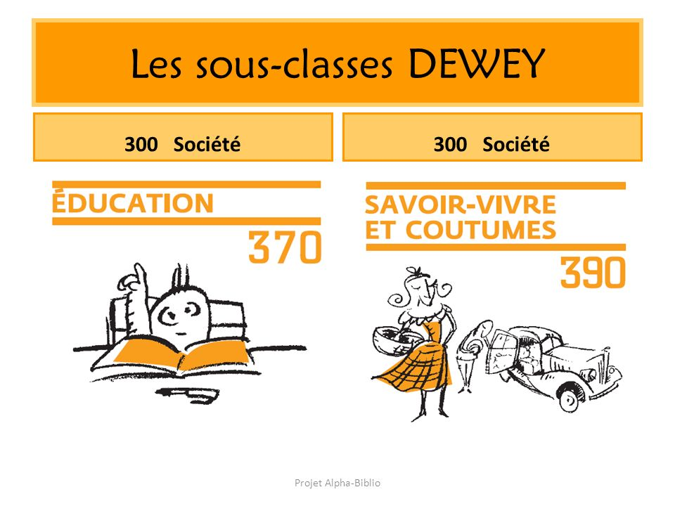 Projet Alpha-Biblio Les sous-classes DEWEY 300 Société