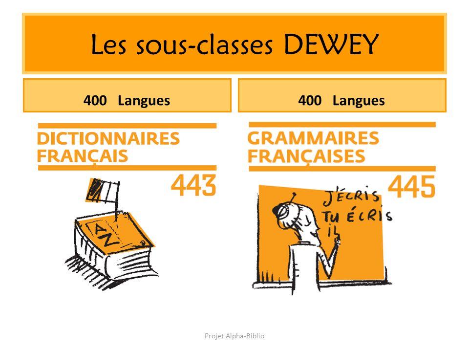 Projet Alpha-Biblio Les sous-classes DEWEY 400 Langues