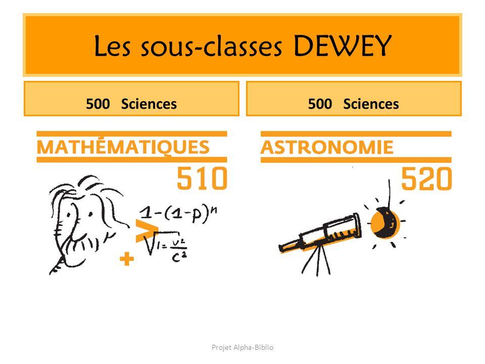 Projet Alpha-Biblio Les sous-classes DEWEY 500 Sciences