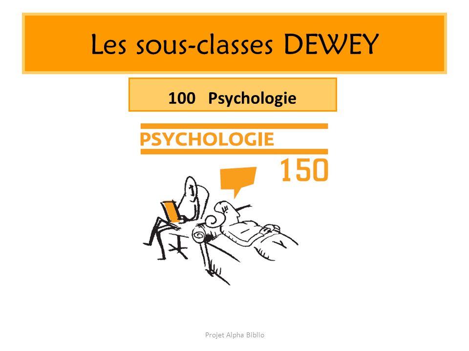 Projet Alpha Biblio Les sous-classes DEWEY 100 Psychologie