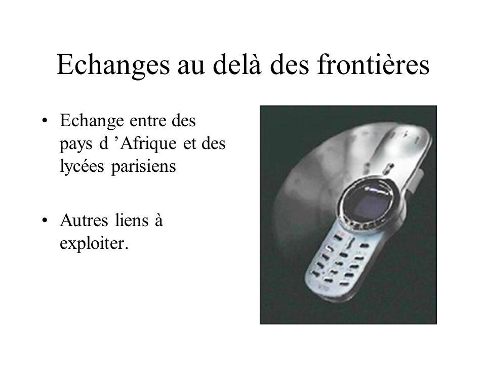 Quelques expériences menées dans le cadre des cours Echanges étudiant/enseignant par courrier électronique Utilisation de l Internet dans le cadre des