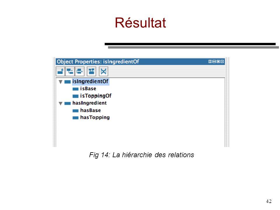 42 Résultat Fig 14: La hiérarchie des relations