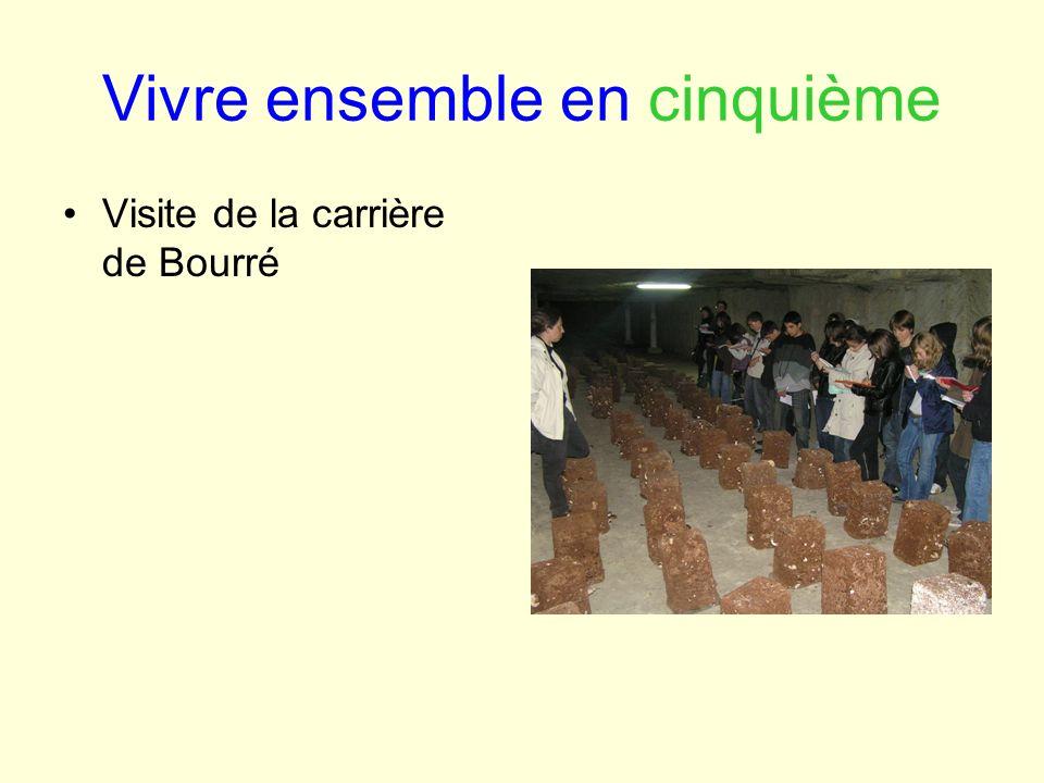 Vivre ensemble en cinquième Visite de la carrière de Bourré