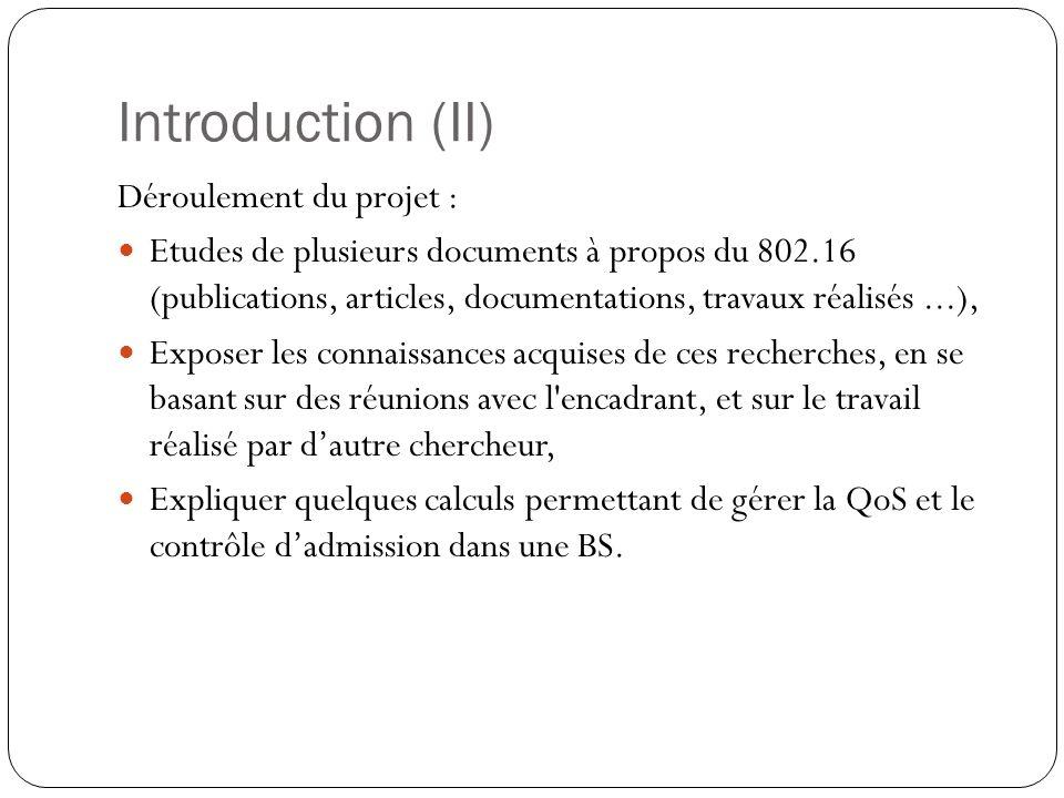 Processus du back-off (II) Calculs : Temps nécessaire pour avoir une bonne transmission : Taux dessais moyen par slot de temps : Avec : Après un calcule simple, on trouve :
