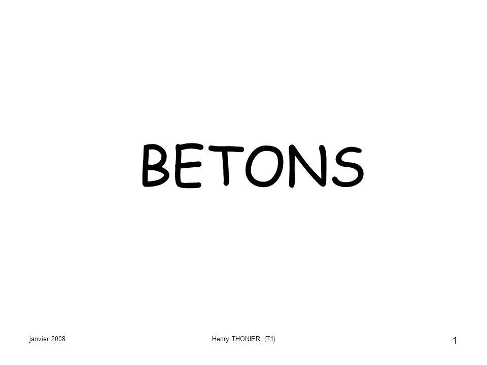janvier 2008Henry THONIER (T1) 1 BETONS
