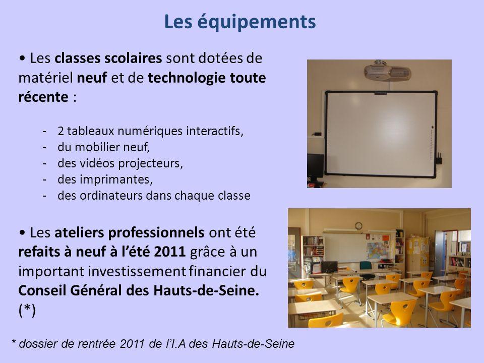 Les classes scolaires sont dotées de matériel neuf et de technologie toute récente : -2 tableaux numériques interactifs, -du mobilier neuf, -des vidéo