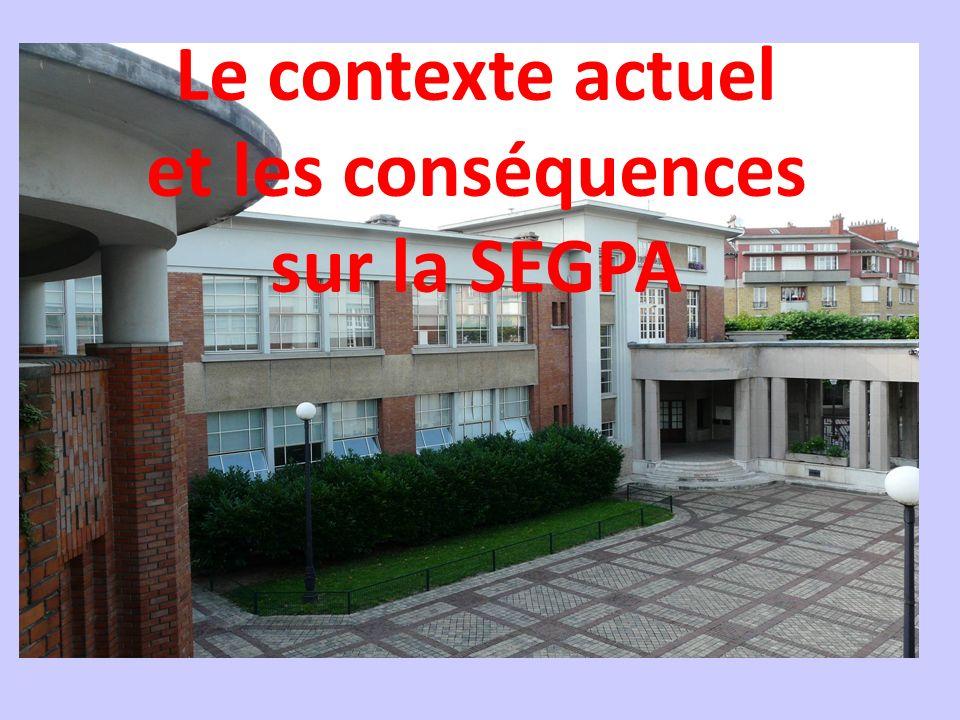 Le contexte actuel et les conséquences sur la SEGPA