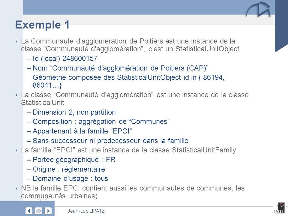 Page 17 Jean-Luc LIPATZ Questions de données Pas de normalisation Données ménages, entreprises potentiellement couvertes, mais pas de données bi-localisées.