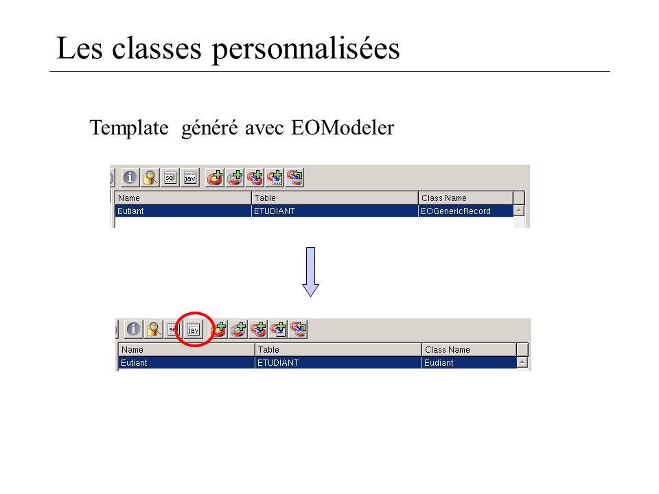 Les classes personnalisées Template généré avec EOModeler
