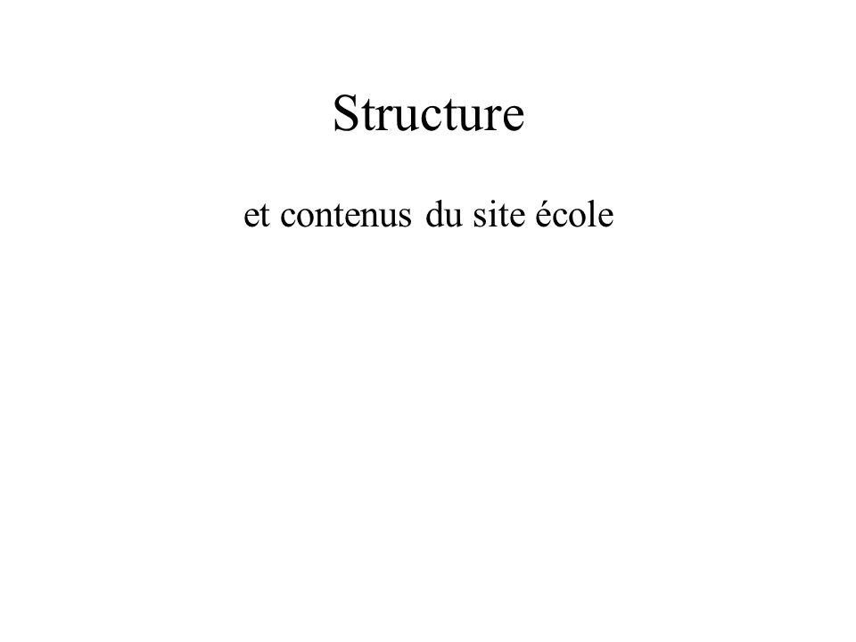 Structure et contenus du site école