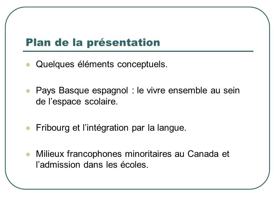 Plan de la présentation Quelques éléments conceptuels.