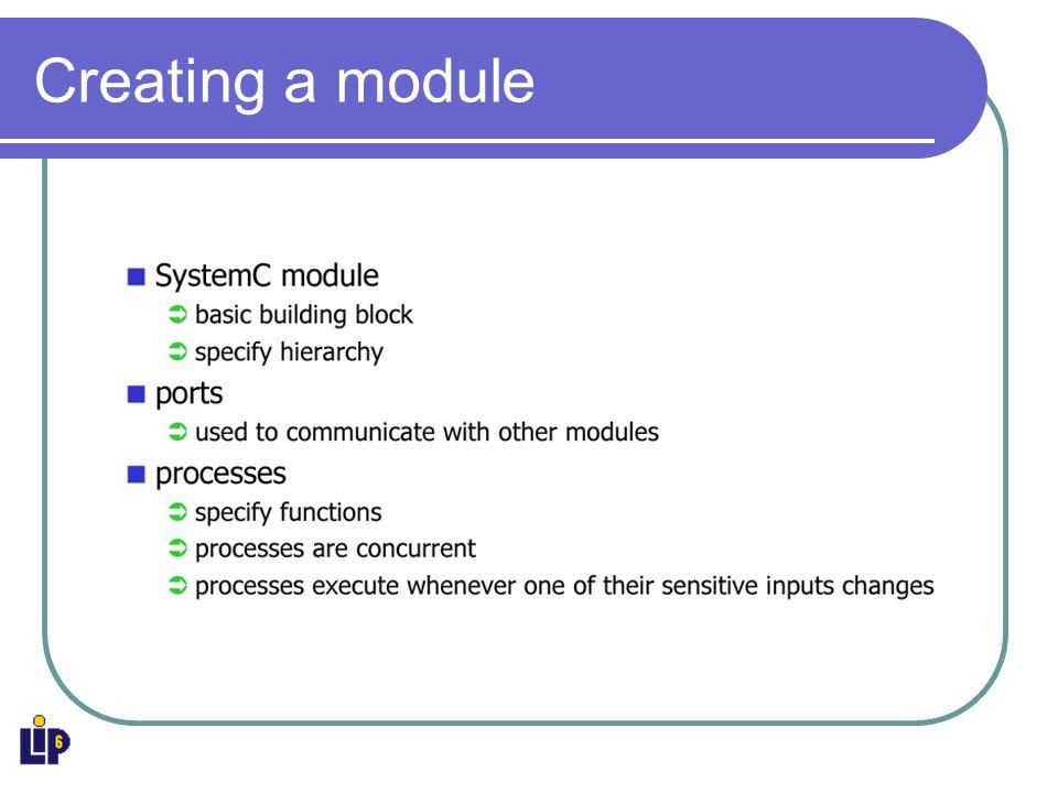 Creating a module