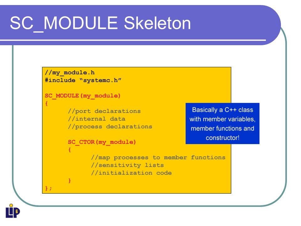 SC_MODULE Skeleton