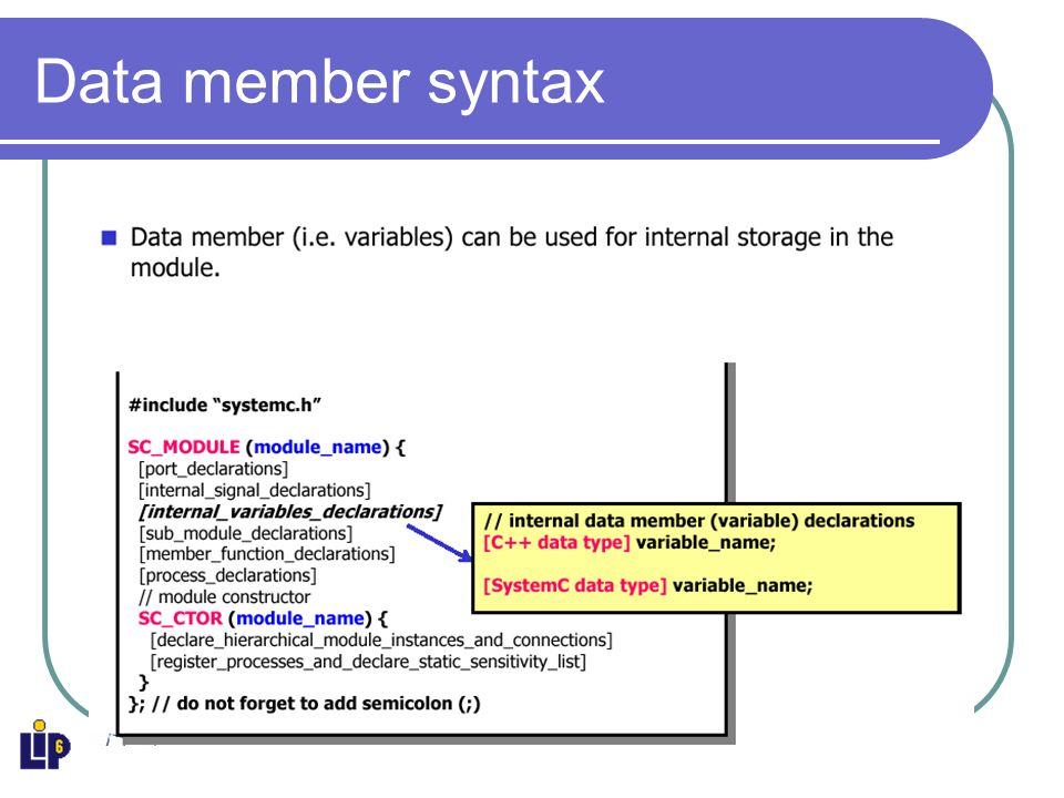 Data member syntax