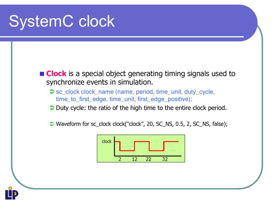 SystemC clock