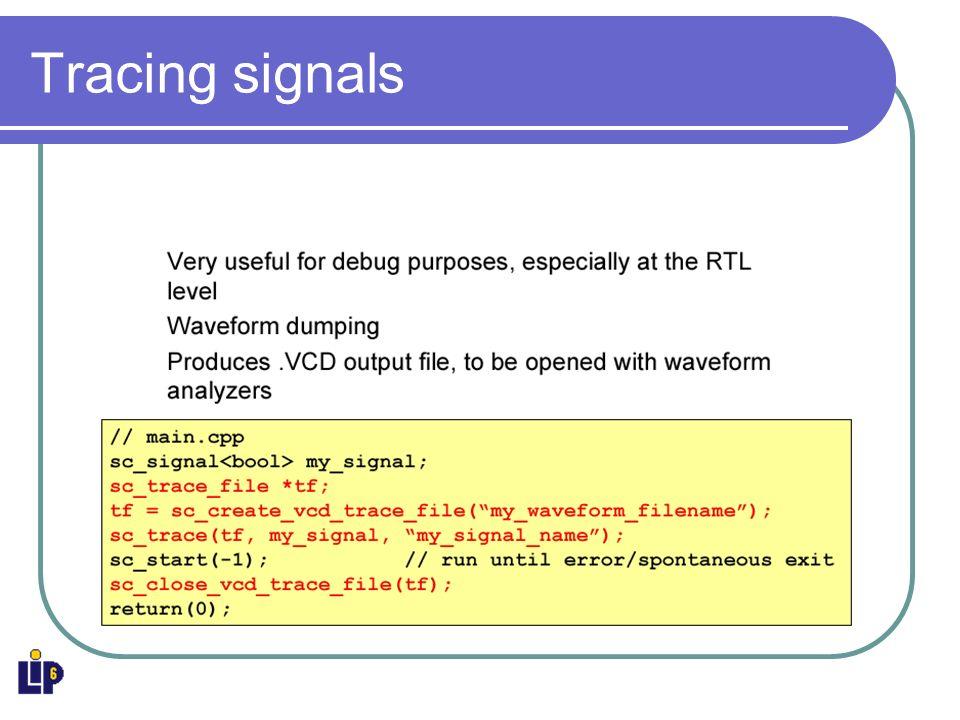 Tracing signals