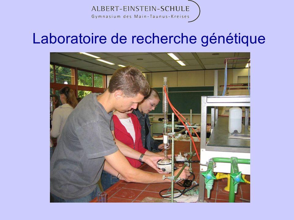 Equipement Des laboratoires très bien équipés pour les sciences Médiathèque avec plus de 9000 livres, DVD, CD, etc.