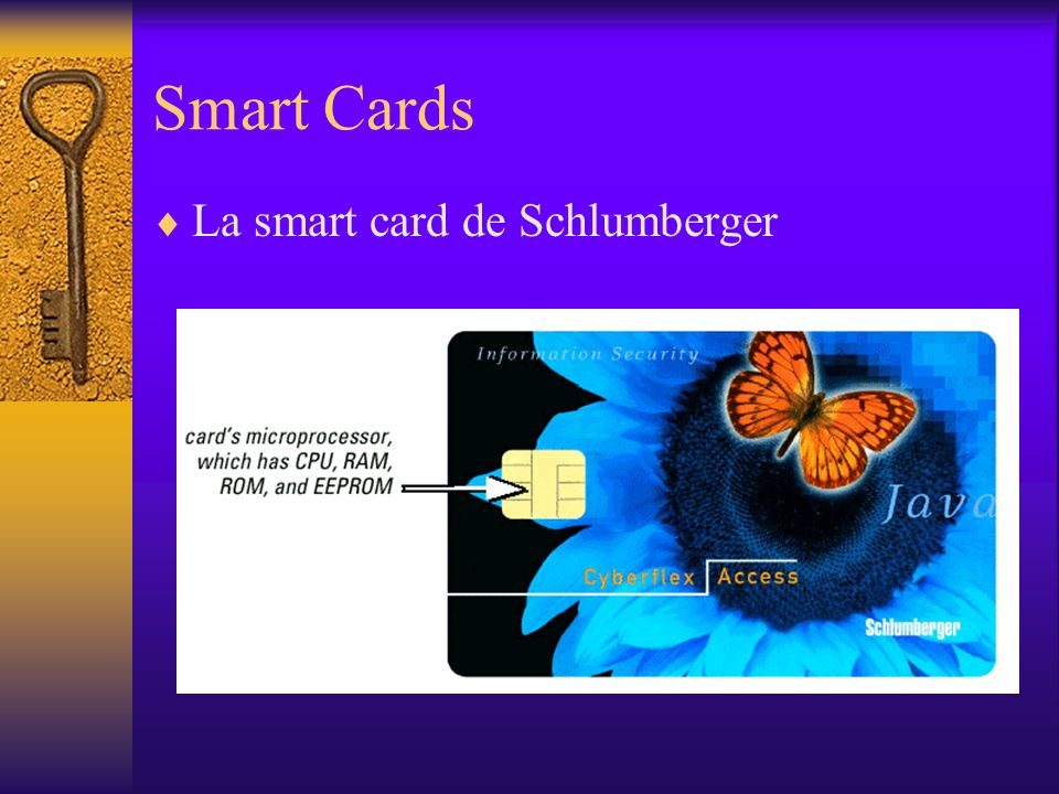 Smart Cards La smart card de Schlumberger