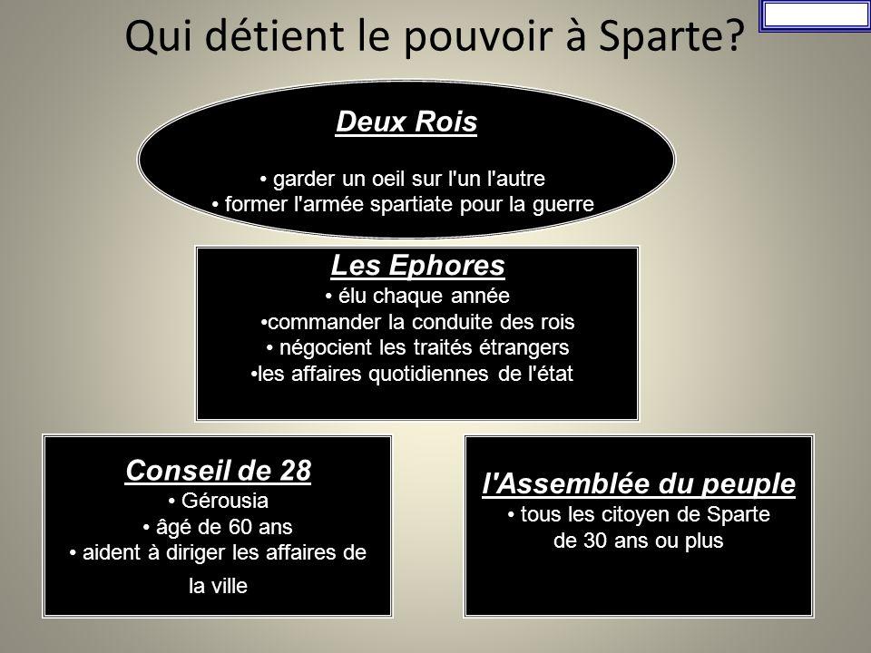 Les classes sociales Les Spartiates ou Égaux Les périèques Les hilotes