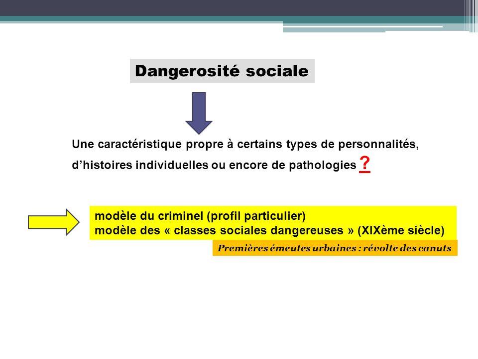 Dangerosité sociale Une caractéristique propre à certains types de personnalités, dhistoires individuelles ou encore de pathologies ? modèle du crimin