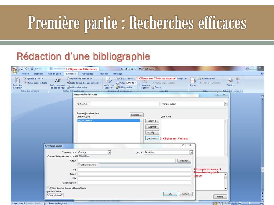 Rédaction dune bibliographie