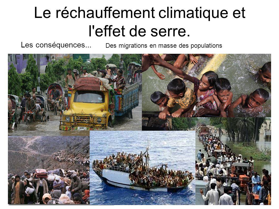 Le réchauffement climatique et l'effet de serre. Les conséquences... Des migrations en masse des populations