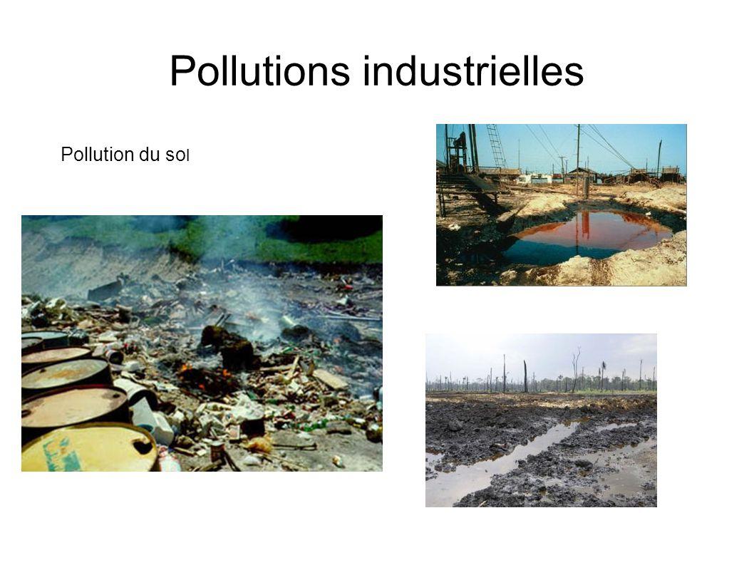 Pollutions industrielles Pollution de l eau