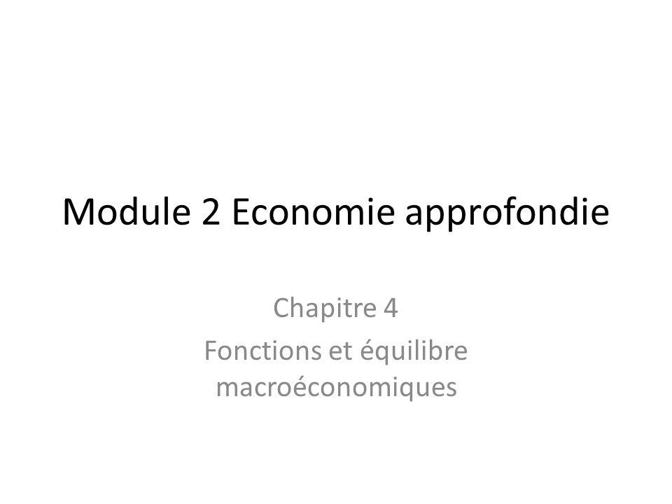 Module 2 Economie approfondie Chapitre 4 Fonctions et équilibre macroéconomiques