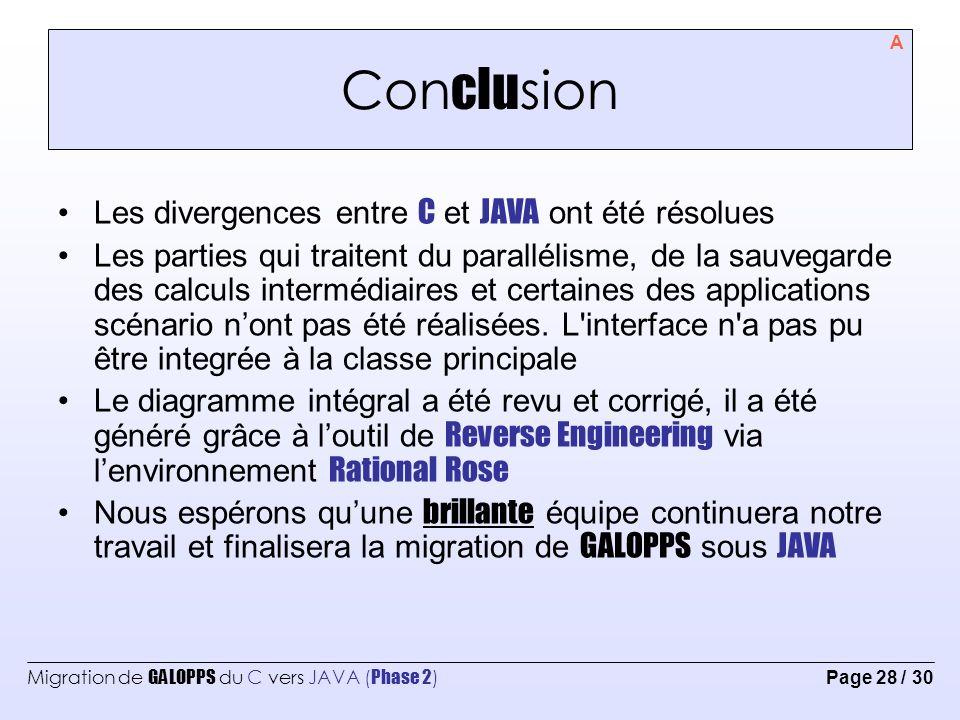 Migration de GALOPPS du C vers JAVA ( Phase 2 ) Page 29 / 30 Réfé ren ces Java Tête la première de Kathy Sierra, Bert Bates, Marie-Cécile Baland.