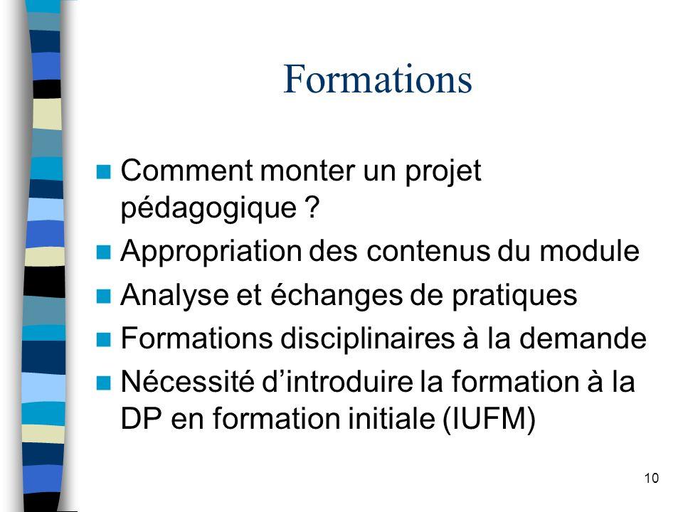 10 Formations Comment monter un projet pédagogique .