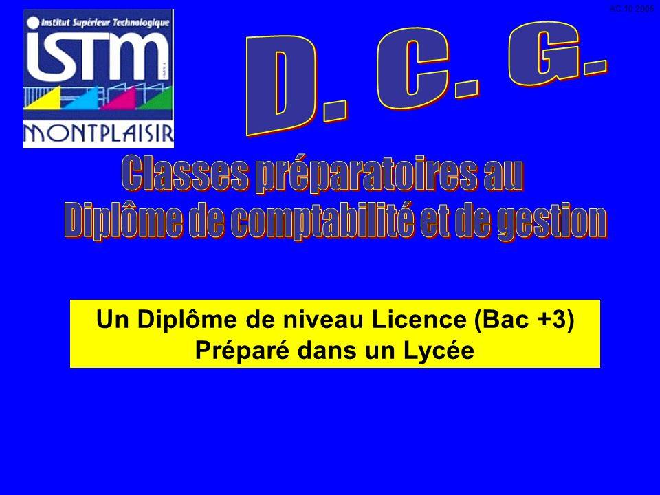 Un Diplôme de niveau Licence (Bac +3) Préparé dans un Lycée AC 10 2006