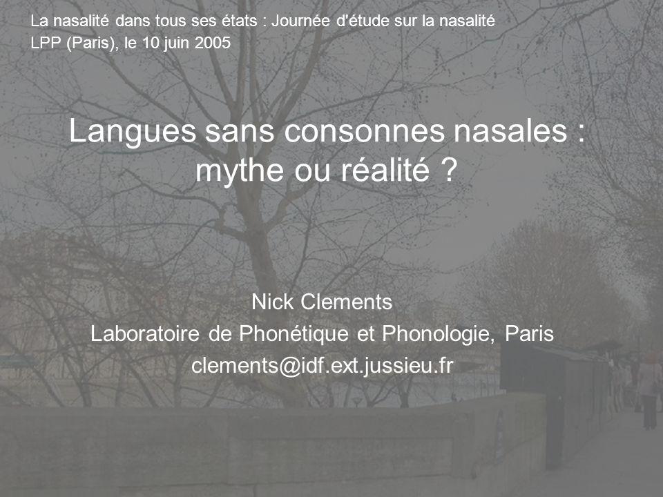 1 Features and Sound Inventories Nick Clements Laboratoire de Phonétique et Phonologie, Paris E-mail: clements@idf.ext.jussieu.fr Symposium on Phonolo