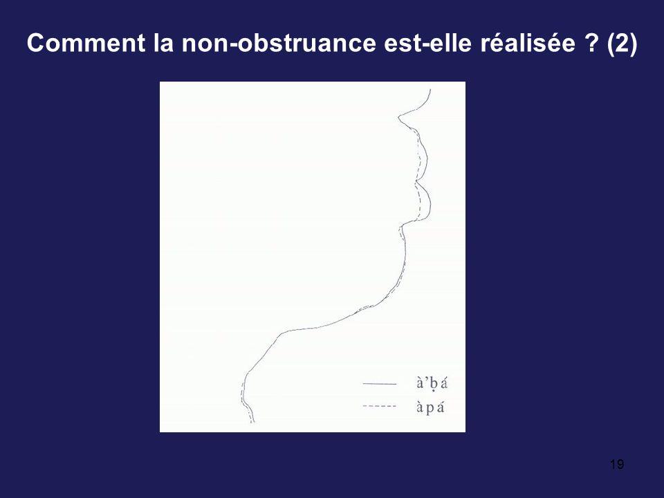 19 Comment la non-obstruance est-elle réalisée ? (2)