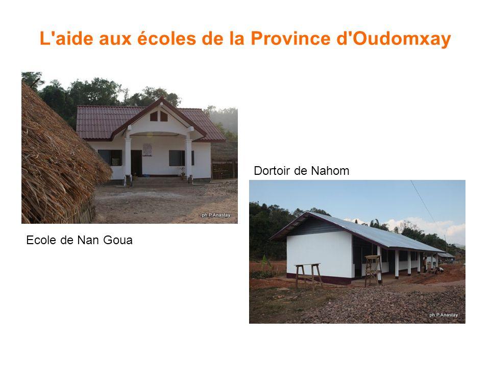 L'aide aux écoles de la Province d'Oudomxay Ecole de Nan Goua Dortoir de Nahom