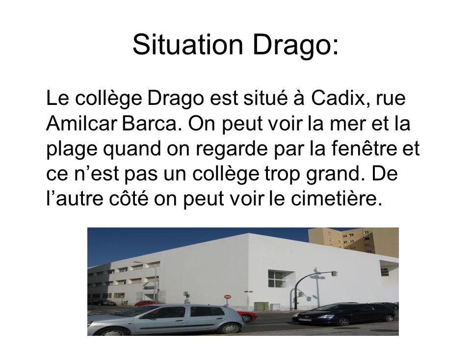 Situation Drago: Le collège Drago est situé à Cadix, rue Amilcar Barca.