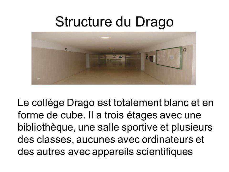Structure du Drago Le collège Drago est totalement blanc et en forme de cube.