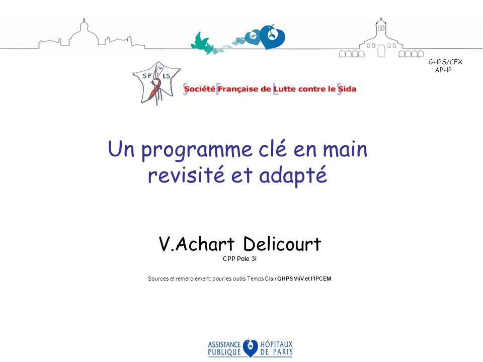 Un programme clé en main revisité et adapté V.Achart Delicourt CPP Pole 3i Sources et remerciement: pour les outils Temps Clair GHPS ViiV et lIPCEM GH