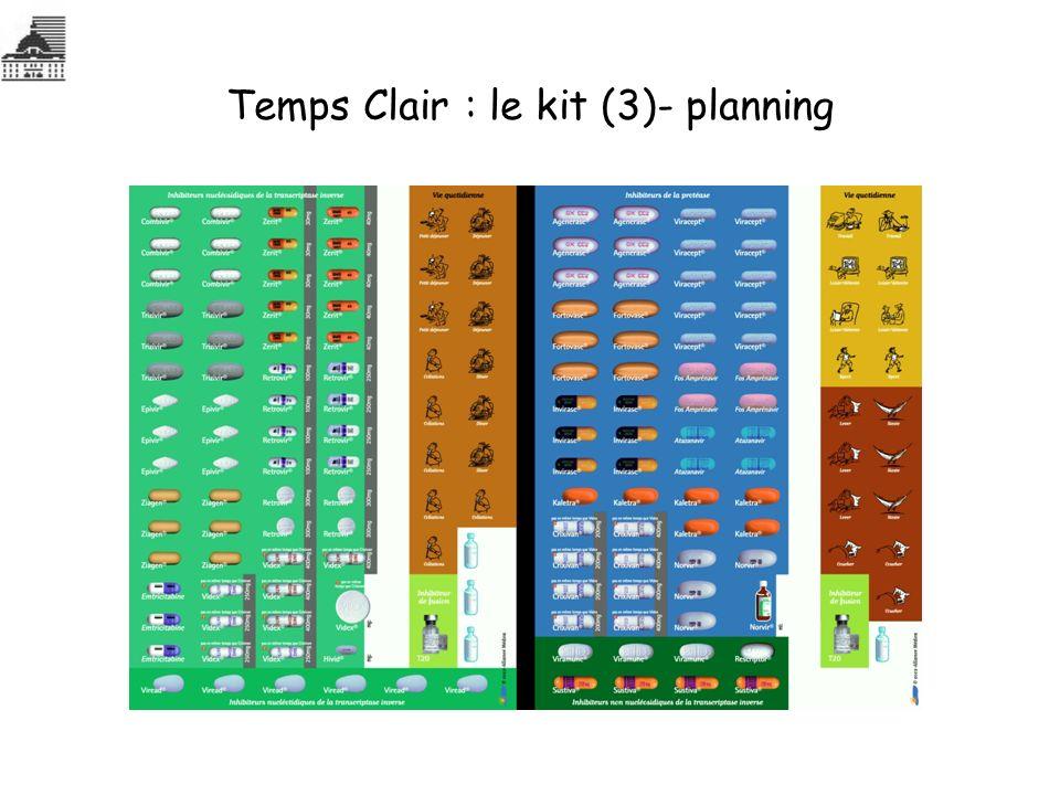 Temps Clair : le kit (3)- planning