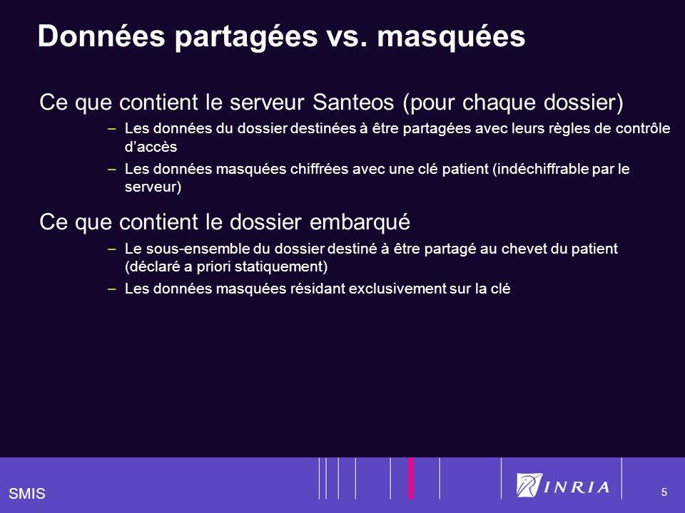 SMIS 5 Données partagées vs.