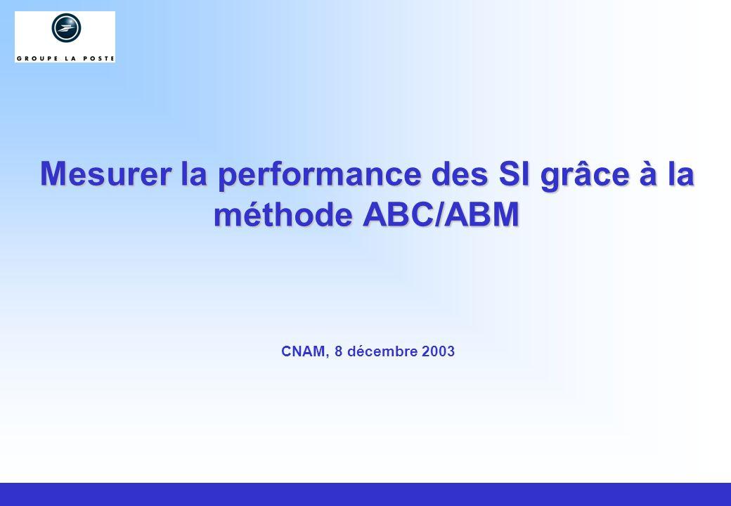 Mesurer la performance des SI grâce à la méthode ABC/ABM CNAM, 8 décembre 2003