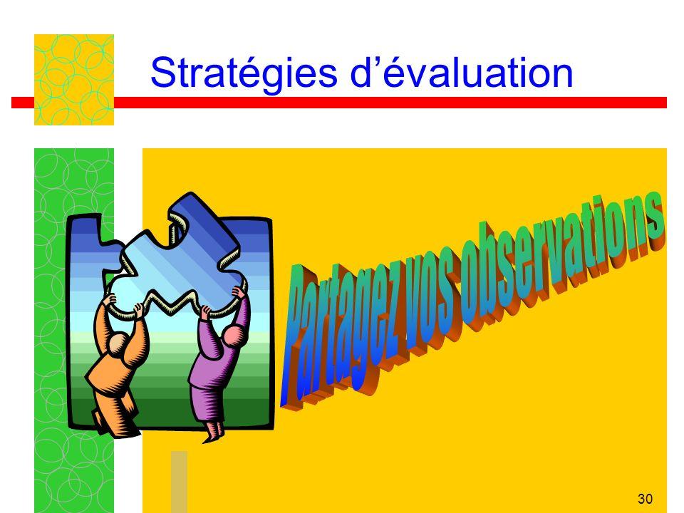 30 Stratégies dévaluation