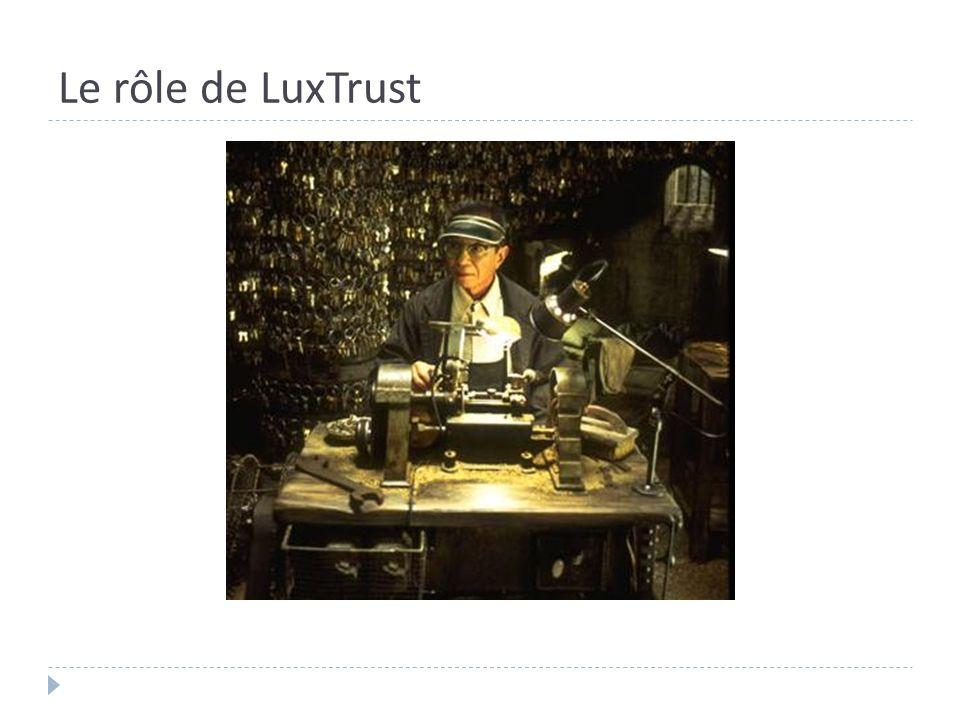 Le rôle de LuxTrust
