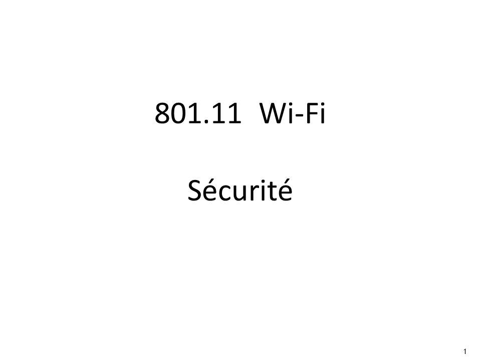 1 801.11 Wi-Fi Sécurité