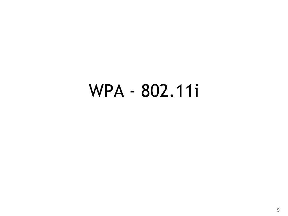 5 WPA - 802.11i