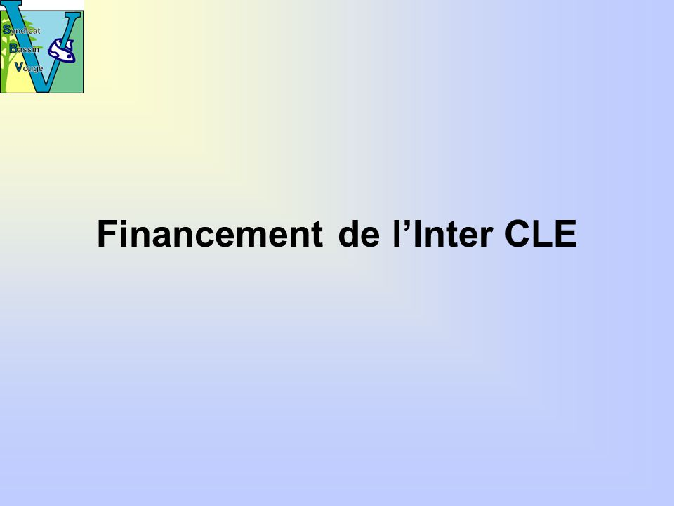 Financement de lInter CLE