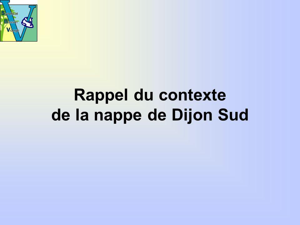 Rappel du contexte de la nappe de Dijon Sud