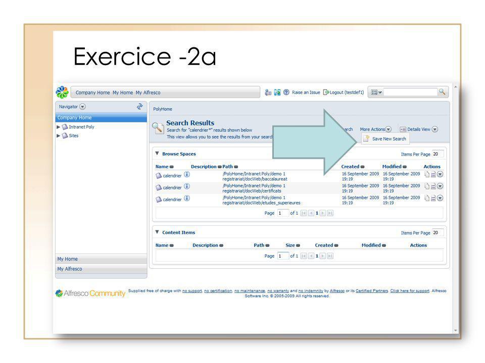 Exercice -2a